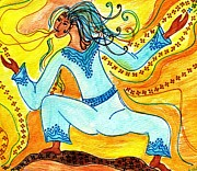 Shamanic Mixed Media Prints - Trans Dance Print by Lisa Cioppettini