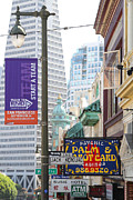 Beat Posters - Transamerica Pyramid Through Jack Kerouac Street San Francisco Poster by Wingsdomain Art and Photography