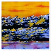 Landscapes Tapestries - Textiles - Transantarctic Range by Carolyn Doe