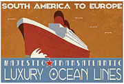 Vintage Advertising Posters - Transatlantic Poster by Cinema Photography