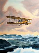 Airplane Paintings - Transatlantic by Kenneth Young