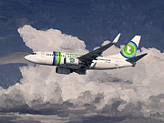 Boeing Paintings - Transavia Boeing 737 by Nop Briex