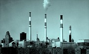 Surrealistic Prints - TRANSCANADA RAVENSWOOD POWER PLANT - Queens NY Print by Dan Haraga
