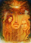Visionary Paintings - Transcendent triad by Larkin Chollar
