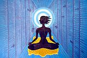 Culture Paintings - Transcendental Meditation by Usha Shantharam