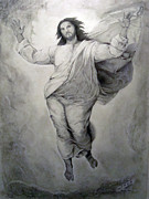 Christ Drawings - Transfiguration-Raphael by Miguel Rodriguez