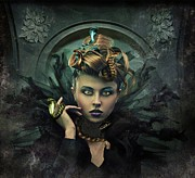 Medusa Mixed Media Metal Prints - Transform Metal Print by Julie King