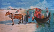 Carnival Carriage Painting Prints - Transformation Into Carnival Print by Ramaz Razmadze