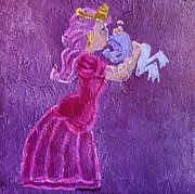 Lesbian Paintings - Transformation of Transgender via Kiss The Princess and Frog Fairy Tale Pink Blue Queer Trans Flag by ImQueer AndLoveIt