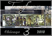 Editorial Digital Art Framed Prints - Transformers 3 Filming in Chicago Framed Print by Jennifer Holcombe