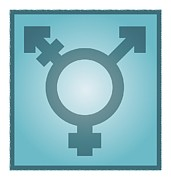 Transgender Framed Prints - Transgender Symbol, Artwork Framed Print by Stephen Wood