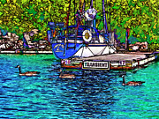 Yacht Digital Art - Transients cartoon by Steve Harrington
