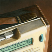 Photorealism Painting Posters - Transistor Radio Poster by Rob De Vries