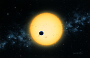 Extrasolar Planet Prints - Transit of HD 209458 Print by Lynette Cook