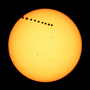 Venus Transit Prints - Transit of Venus Scottsdale Arizona June 5 2012 Print by Brian Lockett
