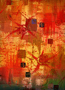Abstracted Mixed Media Prints - Transmitting Light Print by Terry James