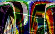 Distortion Digital Art Prints - Transparent Distortions Print by Ron Bissett