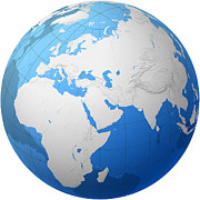 Cartography Photos - Transparent Globe -- Africa And Eurasia by Cartesia