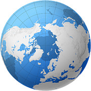 Cartography Photos - Transparent Globe -- Northern Hemisphere by Cartesia