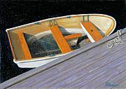 Row Boat Pastels Prints - Transport Awaits Print by Brent Ander