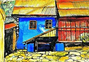 Ion Vincent Danu Metal Prints - Transylvanian house Metal Print by Ion vincent DAnu