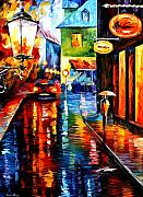 Trapped Inside Blue Rain Print by Leonid Afremov