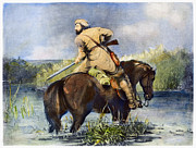 Destiny Metal Prints - Trapper, 1850 Metal Print by Granger