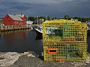 Lobster Traps Framed Prints - Traps by Motif No. 1 Framed Print by Robert Pilkington