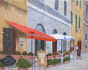 Trattoria Framed Prints - Trattoria in Tuscany Framed Print by Jim Hefley