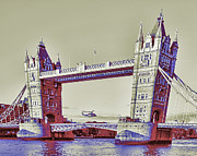 London 2012 Prints - Travel James Bond style Print by Jasna Buncic