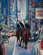 Police Paintings - Travel Notebook. New York. Third Day by Anna  Duyunova