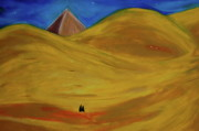 Lovers Pastels Prints - Travelers Desert Print by First Star Art