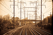 Electric Photo Originals - Travelin Rail  by Sabrina  Hall 