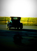 Antique Automobiles Framed Prints - Traveling the road back  Framed Print by Steven  Digman