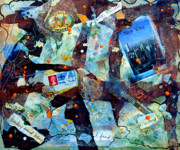 Hotels Mixed Media Posters - Travelling One Poster by Beverly  Koski