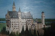 Neuschwanstein Castle Paintings - Travels to Germany by Julie Cranfill