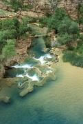 Pools Posters - Traventine Pools Below Havasupai Falls Poster by Rich Reid