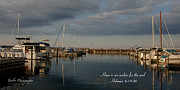 Boat Jewelry Prints - Traverse City evening Print by Melissa Huber