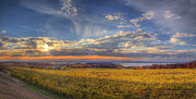 Traverse Bay Photos - Traverse City from Old Mission at Sunset by Twenty Two North Gallery