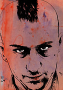 New York Drawings Metal Prints - Travis Bickle Taxi Driver Metal Print by Giuseppe Cristiano