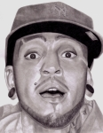 Mets Drawings - Travis McCoy by Angelee Borrero