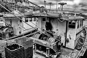 Trawler Metal Prints - Trawlers in Black and White Metal Print by Jay Lethbridge