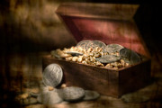 Coin Photo Prints - Treasure Chest Print by Tom Mc Nemar