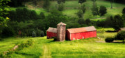 Red Barns Photos - Treasure Hill- Barn Art by Thomas Schoeller
