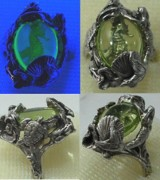Mermaid Jewelry - Treasure of the seahorse ring by Michelle  Robison