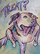 Dog Paw Paintings - Treat by Sandy Tracey