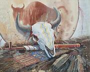 Skull Paintings - Treaties Remembered by Don Trout