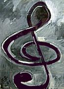 Integral Drawings - Treble clef by Elio Lopez