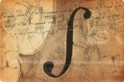 Macro Digital Art - Treble Clef by Michal Boubin