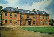 Haunted House Drawings Metal Prints - Tredegar House Metal Print by Andrew Read